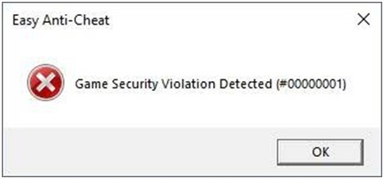 Game_security_violation_detected(#000000001)_error