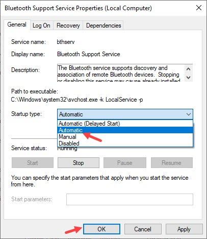 Set_Bluetooth_support_service_to_automatic