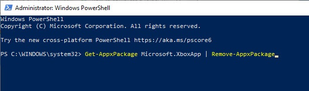 Remove_xbox_from_windows_10_using_powershell