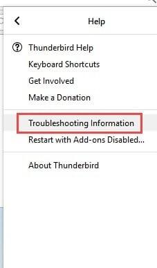 troubleshooting_information_thunderbird