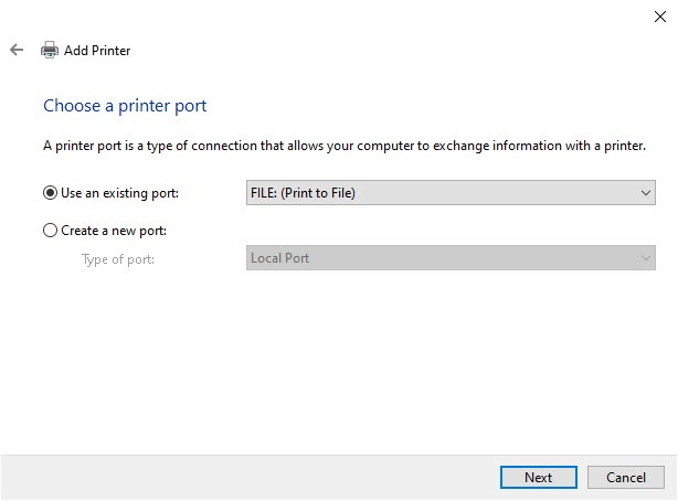 choose_printer_port