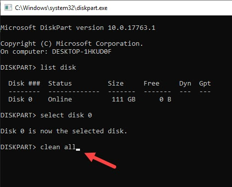 diskpart_clean_all_disk_command