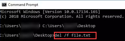 force_delete_using_command_prompt