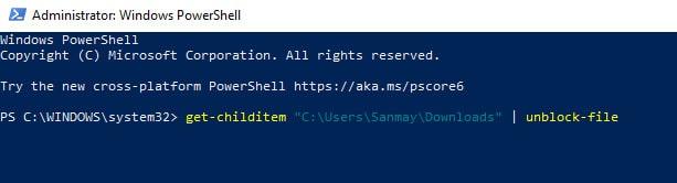 unlock_downloaded_files_powershell