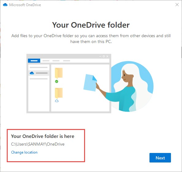 change_OneDrive_folder