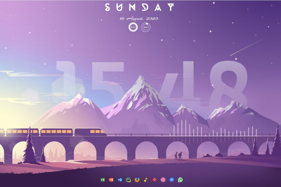 All_aboared_the_purple_train_rainmeter_skin