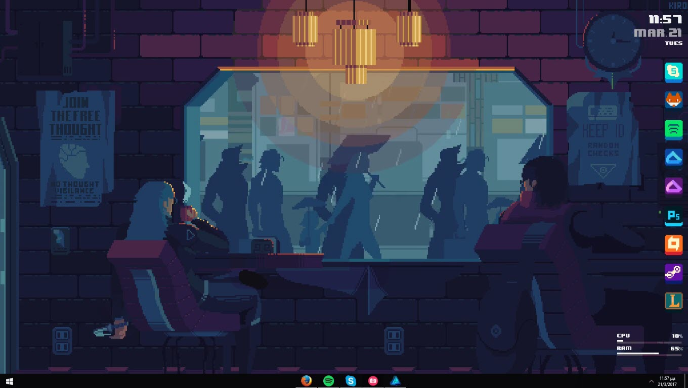 Cyberpunk_coffee_rainmeter_skin