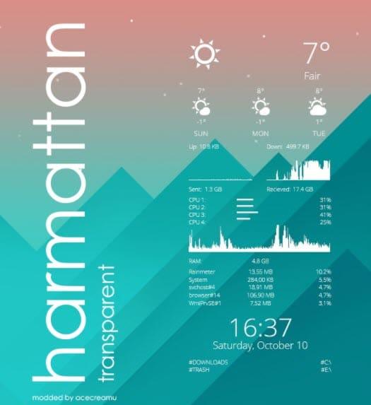 Harmattan_rainmeter_skin