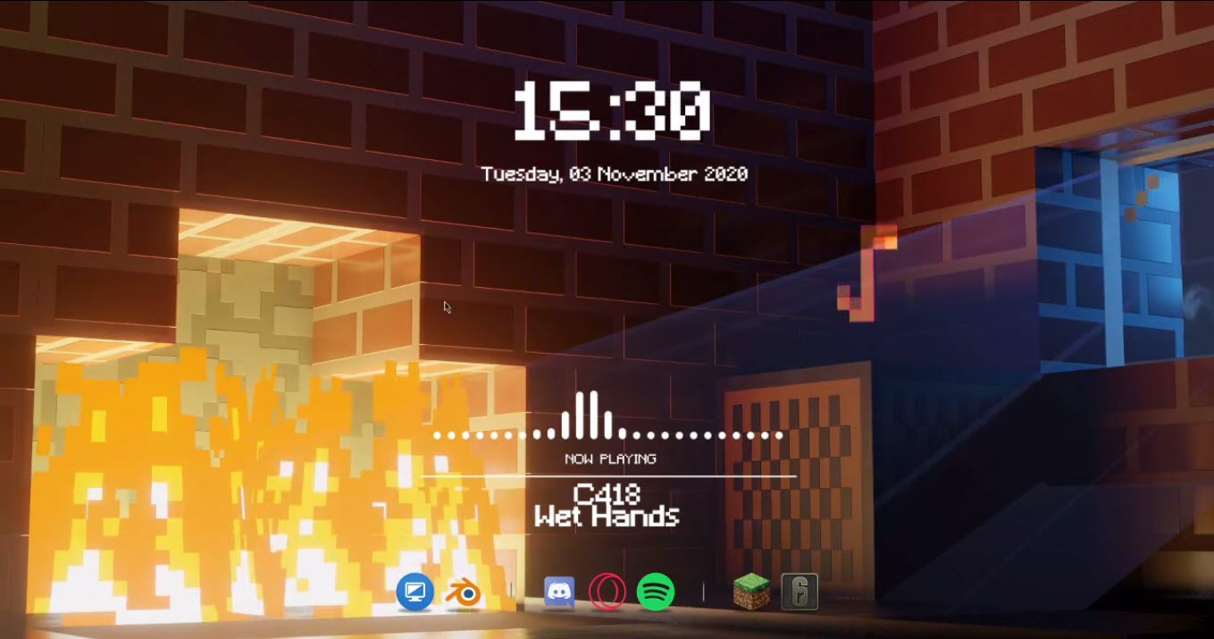 Minecraft_rainmeter_skin