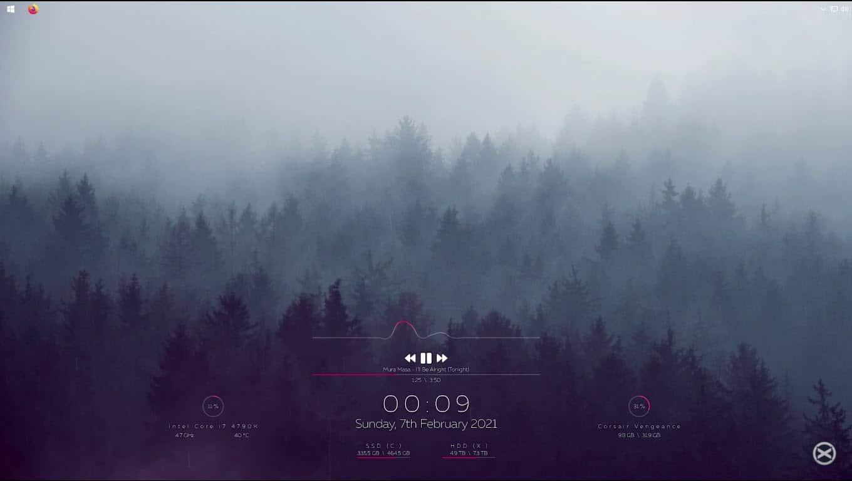 Minimal_forest_rainmeter_skin