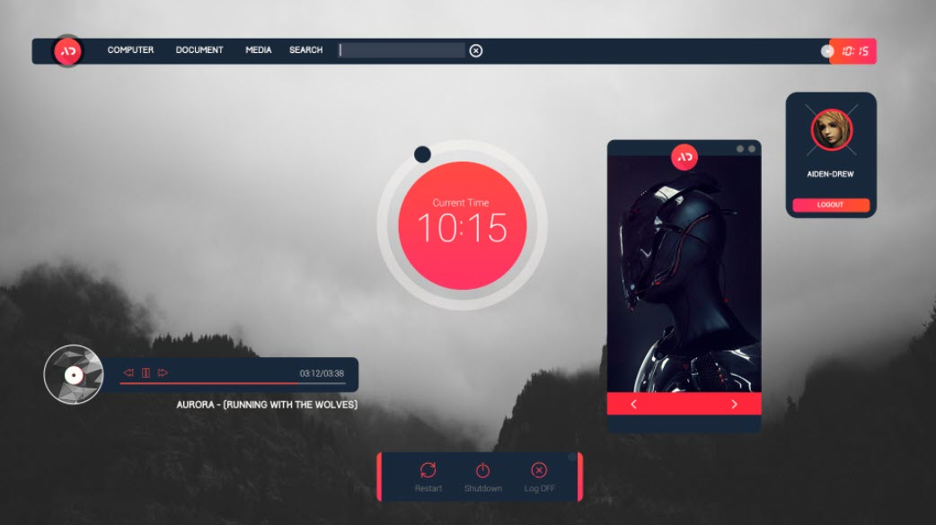 Senja_suite_rainmeter_skin