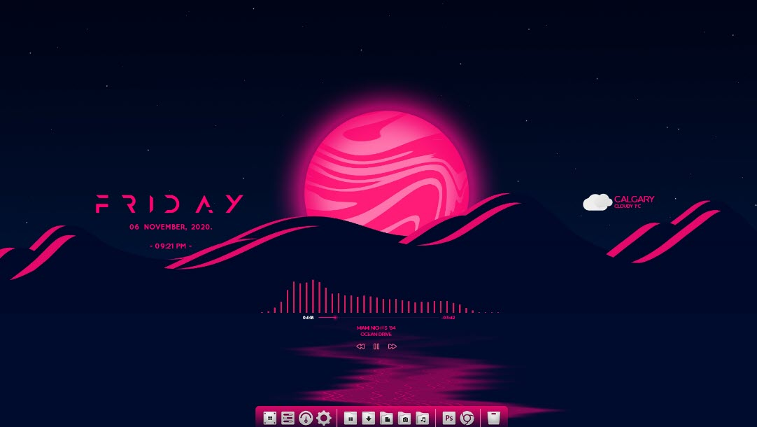 Super_blood_moon_rainmeter_skin
