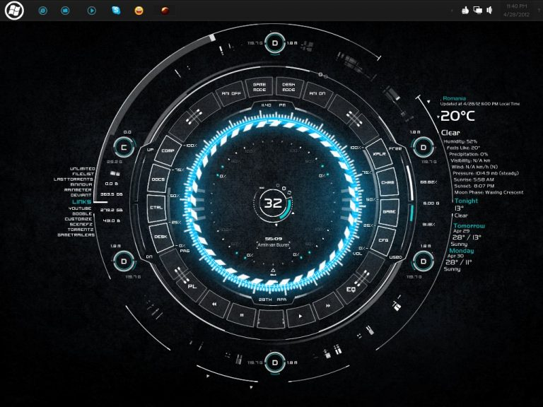 Tech_A_rainmeter_skin