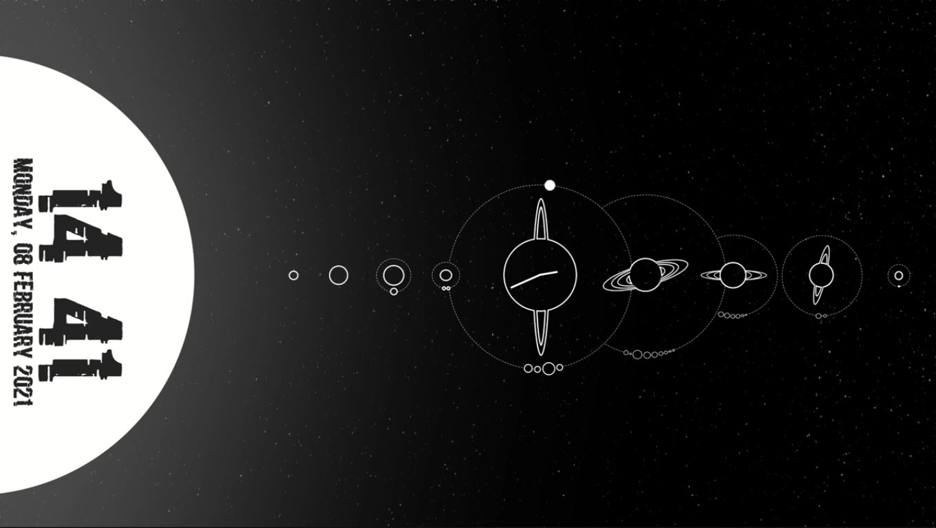 black_and_white_solar_system_rainmeter_skin