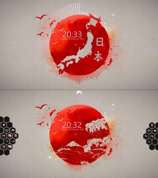 japanese_style_desktop_rainmeter_skin
