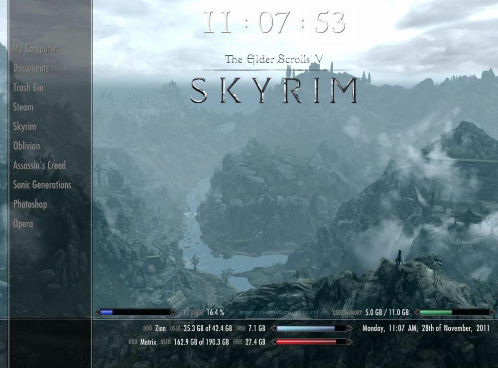 skyrim_rainmeter_skin